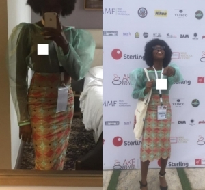 Model With Tribal Marks, Adetutu Rocked A Transparent Dress To Ake Festival (Photos)